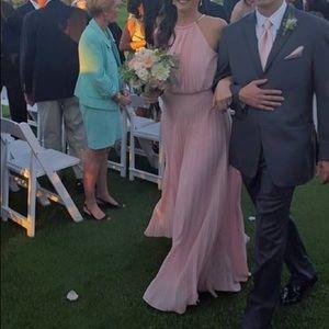Pink pleated bridesmaid/prom dress